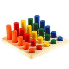 Столбики логические(цвет,размер)
